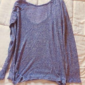 Sweaters - Purple sheer open back pullover